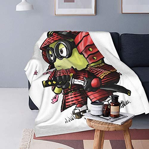 Samurai Minion Ultraweiche Micro-Fleece-Decke, luxuriös, für alle Jahreszeiten, warme Mikrofaser-Decke für Bettwäsche, Sofa und Reisen, 125 x 150 cm