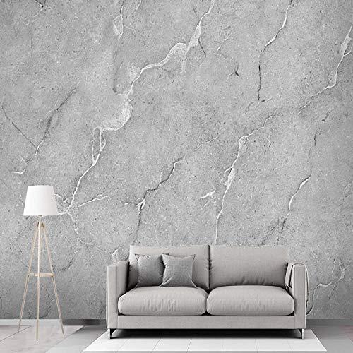 WZDYFCL Personalizar Cualquier tamaño de Papel Tapiz Mural 3D Piedra Gris Mural de Pared Sala de Estar TV sofá Dormitorio Fondo Revestimiento de Pared Papel De Parede - 250X175cm(98.42by68.89in)