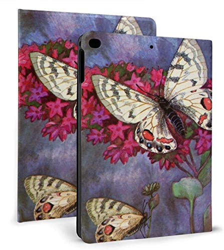 Butterfly Painting PU Leather Smart Case Auto Sleep/Wake Feature for IPad Mini 4/5 7.9'& IPad Air 1/2 9.7' Case