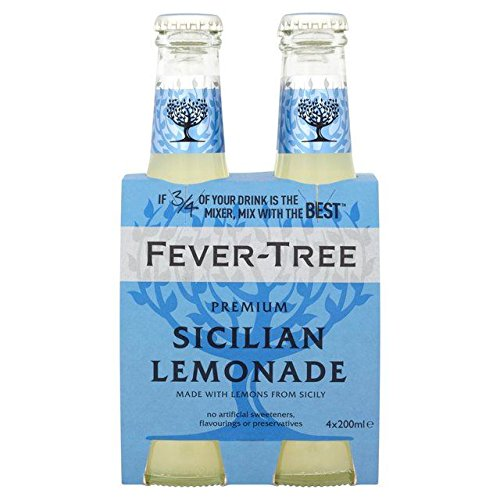 Fever-Tree Sicilian Lemonade - 4 All items free shipping Large discharge sale 200ml 27.05fl oz x