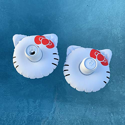 Inflatable Hello Kitty Pool Float with Cup Holder   Level-up Your Birthday Party Games!