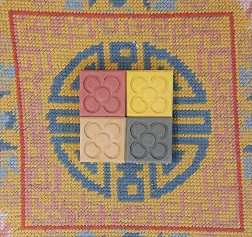 4 MINI magnets Flor de Barcelona, imán Panot de Barcelona, en resina cerámica, despedidas Barcelona, regalo de Barcelona, boda en Barcelona, evento en Barcelona