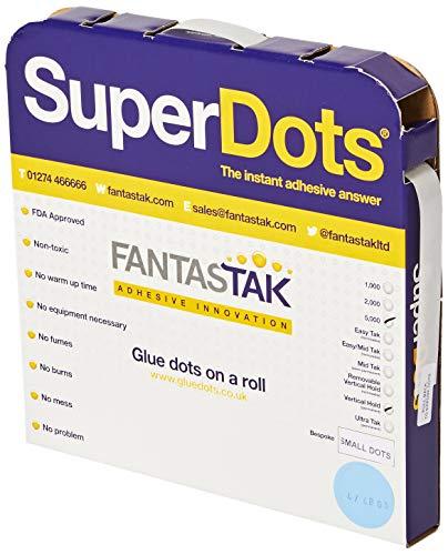 Swiftpak 5mm Verticale Houd Verwijderbare Lijm Dots (Pak van 5000)