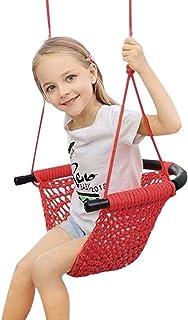 Barngunga, gungstol för barn med ställbara rep Heavy Duty lina säker barngunga hand kitting lina gungstol lekplats plattfo...