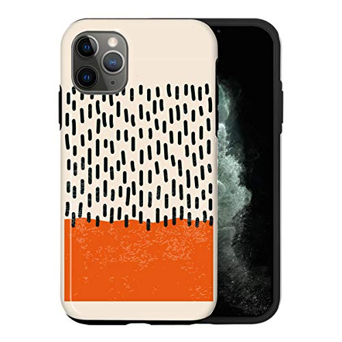 Desconocido iPhone 12 Mini Case, Abstract Red Color Swatch ABC047_3 Case For iPhone 12 Mini Protective Phone Cover, Abstract Funny Gorgeous [Double-Layer, Hard PC + Silicone, Drop Tested]