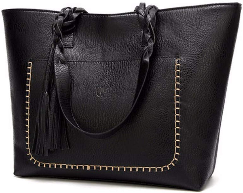 JQSM Pu Tassel Women Shoulder Bag Female Retro Daily Causal Totes Lady Elegant Shopping Handbag