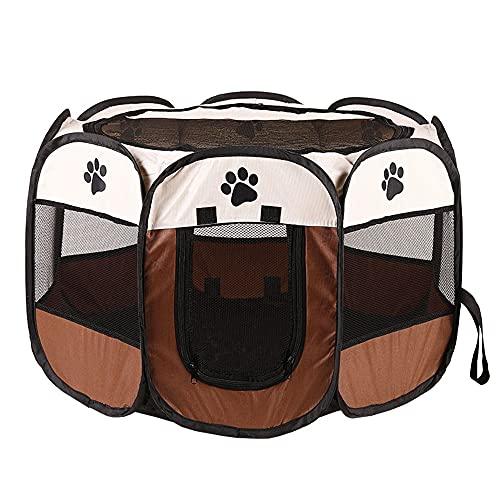 CROWNXZQ Pantalla de Mascotas portátil, Perro Plegable, Interior/al Aire Libre Tienda Perritos Tiendas Sombra Play para Cachorros Perros Gatos Pen House Conejito Camping Uso