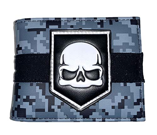 Skull Wallet, MW3 Camo - Faux Leather
