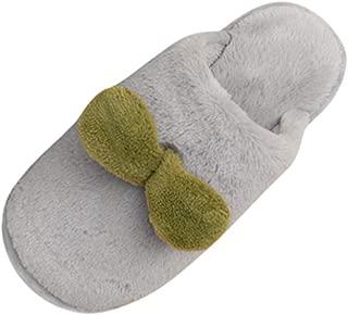 ANJUNIE Indoors Slippers for Women and Men,Winter Home Non-Slip Floor Warm Shoes Bedroom