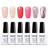 Elite99 Esmaltes Semipermanentes de Uñas en Gel UV LED, 6pcs Kit de Esmaltes de Uñas 10ml 003