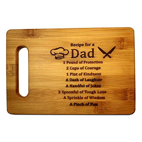 Bamboo Cutting Board Laser Engraved Board Chopping board-Gift for Dad Cutting board for DadGift for husbandGrill dadDAD MEANS