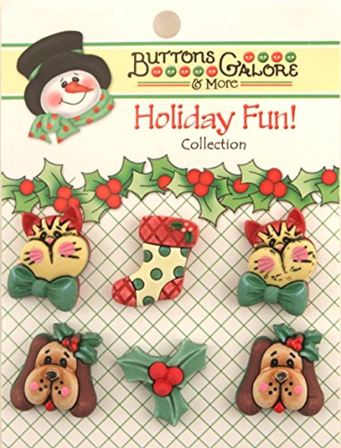 Holiday Buttons-Holiday Pets