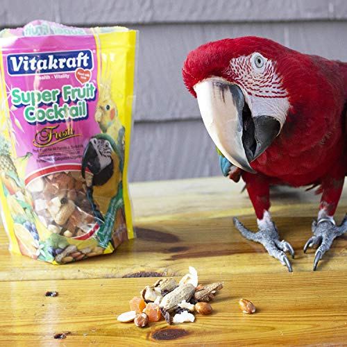 Vitakraft Super Fruit Cocktail Treat For All Parrots & Cockatiels, 20 Ounce Pouch