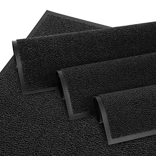 Entrando Schmutzfangmatte 90 x 120 Anthrazit - 6 Größen - Teppich für Innen und Draussen - Waschbar - Sauberlaufmatte Fußmatten