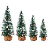 Goosacyon 8 piezas mini cedro árbol de Navidad árbol de Navidad cepillo árboles artificiales mini árbol de Navidad mesa para Navidad DIY manualidades hogar escritorio decoración