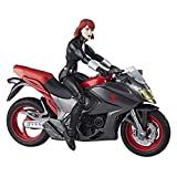Marvel Legends 6' Black Widow and Motorcycle Set