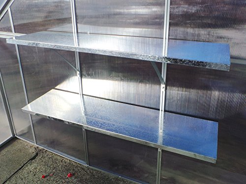 Wandregal für Gewächshaus Duo Hängeregal 120x30 cm für Treibhaus Pflanzenhaus Regal Ablage (2 Stück - 120x30)