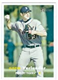 Justin Verlander baseball card 2006 Topps Heritage #461 (Detroit Tigers) Rookie Card. rookie card picture