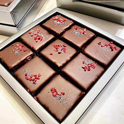 Eat to Fit - Cranberries & Coconuts zuckerfreie Schokoladen Fudges - Ohne Zucker - diabetiker Schokolade - Box 9er