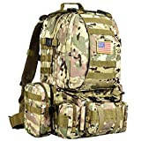 CVLIFE Military Tactical Backpack Army Rucksack Assault Pack Built-up Molle Bag