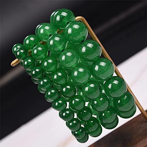 XLTWKK Pulsera de la Suerte, Pulsera de Piedras Preciosas Naturales, Pulsera de Amuleto de Cuentas de Piedra Natural Verde Que Pueden Usar Tanto Mujeres como Hombres (Green,4pcs Mixed Pack)