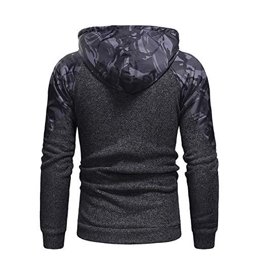 Z&Y Glaa Men's Sports Stretch Hooded - Men Casual Sweatshirt Comfortable Hoody Slim Fit Fitness Hoody Gym Hoodie Military Fleece Combat Jacket Tactical Hoodies Men's Hoodie