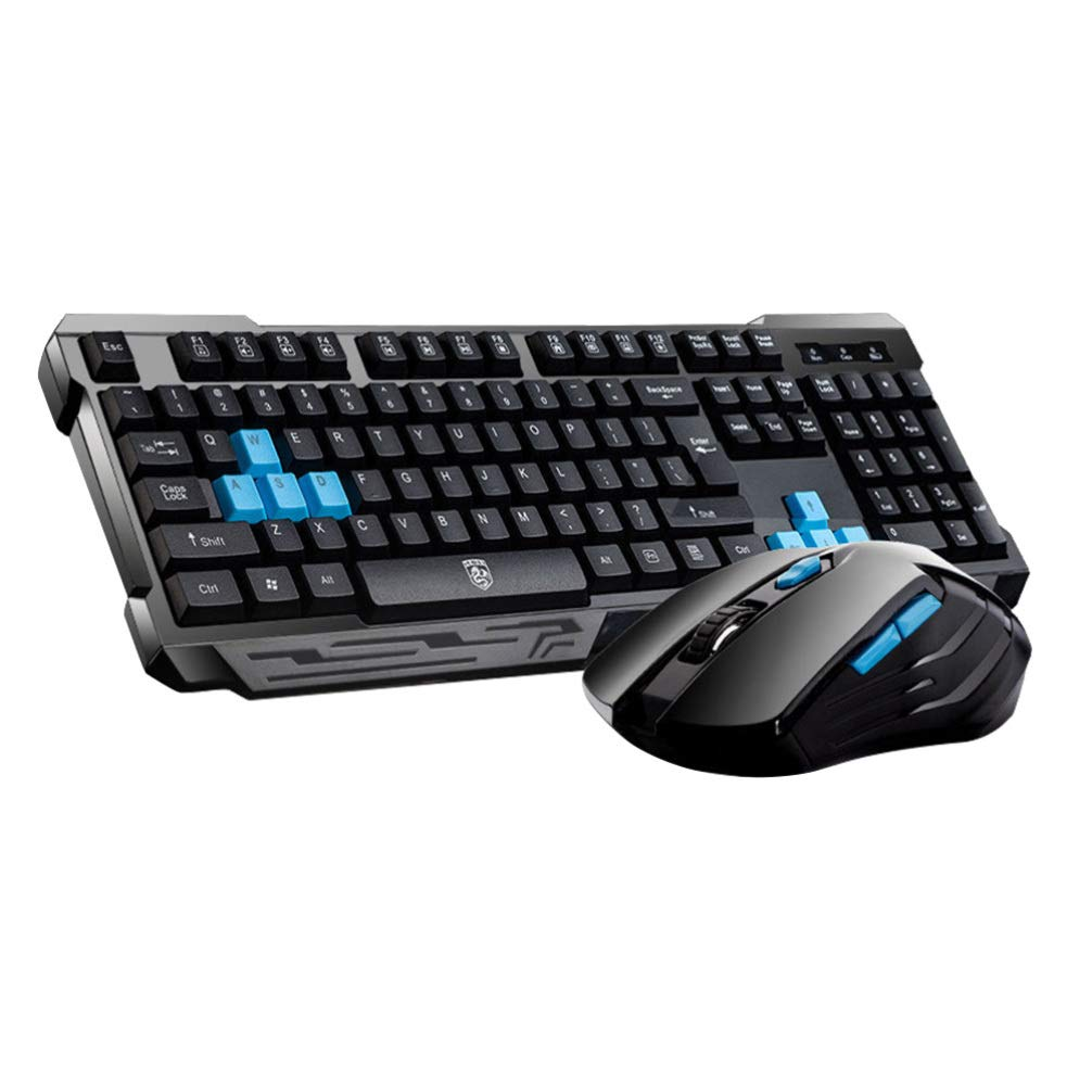 SOLUSTRE Wireless Gaming Keyboard Mouse Computer Game Mouse Computer Accessories Gifts for Office Desktop Laptop PC Gaming