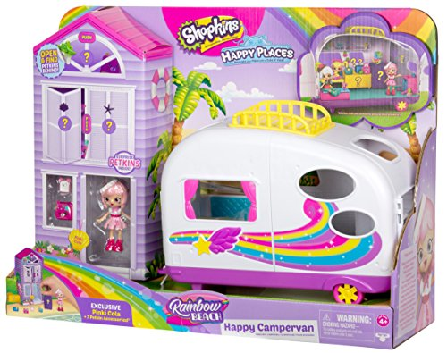 Shopkins Happy Places Rainbow Beach Camper Van