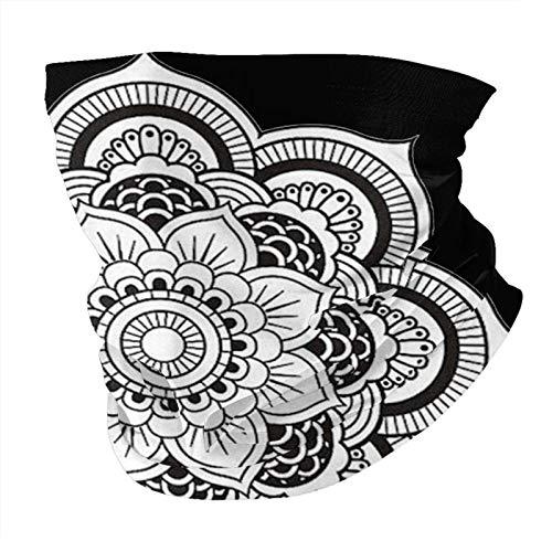 Sim-ple flo-wer variety head scarf Unisex personalized scarf face Balaclavas Balaclavas wind and UV protection