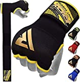 RDX Training Boxing Inner Gloves Hand Wraps MMA Fist Protector Bandages Mitts, Medium, Black