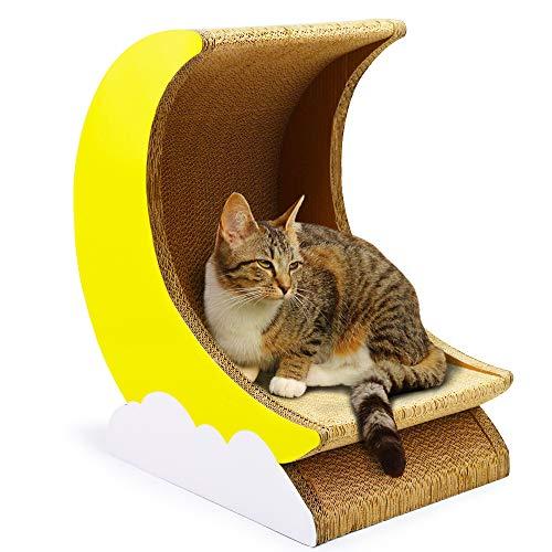 Aida Bz Carton ondulé Chat Jeu de Chat litière Cat House Chat Bowl Moon Type Cat Scratch Board
