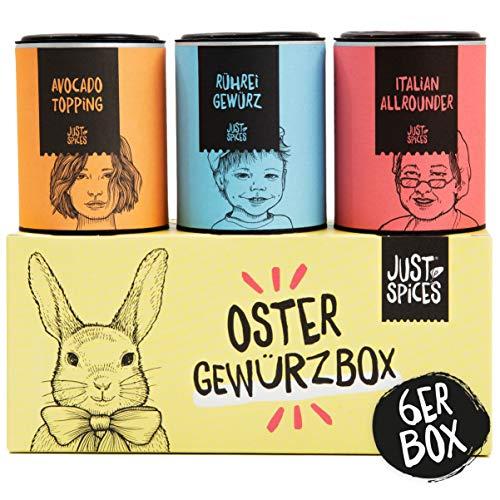 Just Spices Oster Gewürzbox   6 der besten Gewürze in einer Geschenkbox   Perfektes Ostergeschenk für Männer und Frauen in Geschenkbox