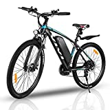 VIVI Elektrofahrrad Herren 27.5' Mountainbike mit Abnehmbare 36V/10.4Ah Batterie /21-Gang-Getriebe/Höchstgeschwindigkeit 25km/h/Kilometerstand Aufladen Bis zu 50km (Blau)