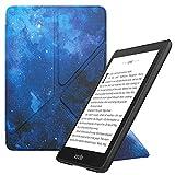 MoKo Funda Encaja Kindle Paperwhite, Standing Origami Slim Shell Funda con Auto Sueño/Estela Compatible con Kindle Paperwhite (10th Generation, 2018 Releases) - Azul CieloEstrellado