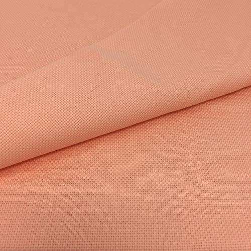 Tela para Punto de Cruz | 75cm x 50cm | 5,5 puntos/cm – 14 cuentas | 100% algodón | Elige color | de Delicatela (Salmón)