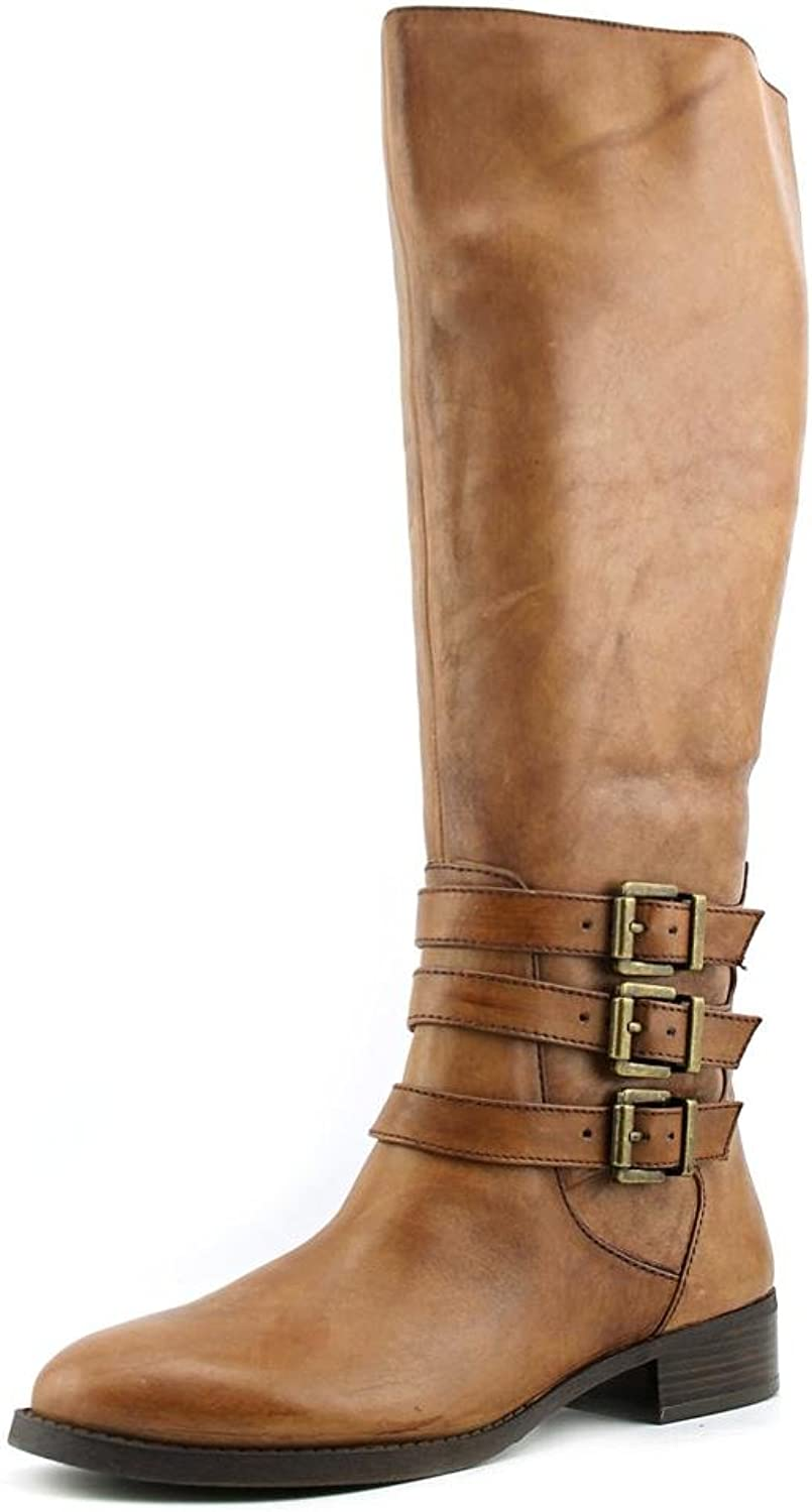 INC International Concepts Womens Francy Leather Almond Toe Knee High Fashion.