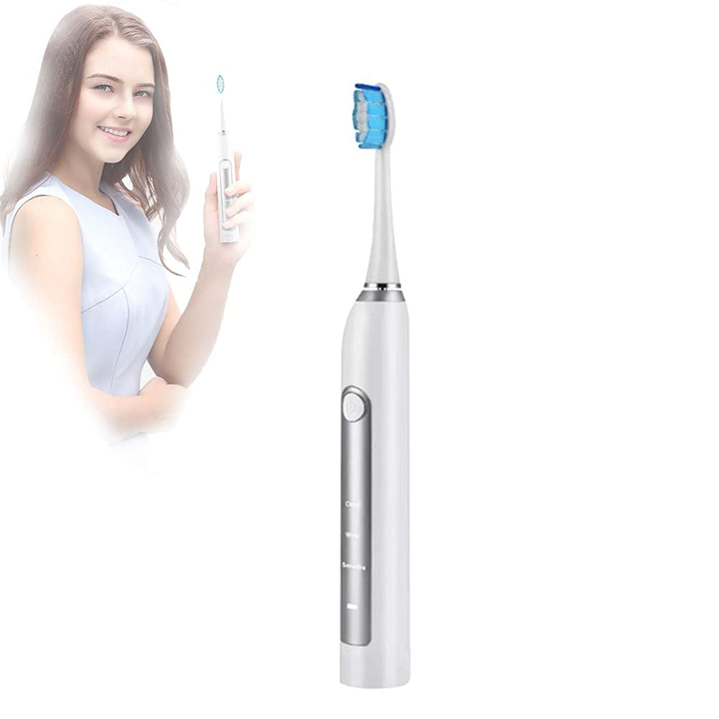 遠え役立つ閃光超音波電動歯ブラシ、インテリジェントタイミング、3次元洗浄、パーソナライズド、シンプル、高周波洗浄