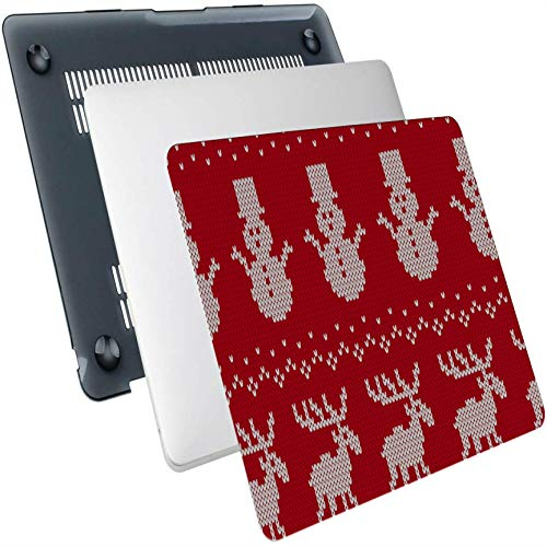 Mac Book Case Knit Reindeer Star and Snowflake Plastic Hard Shell Compatible Mac Air 13' Pro 13'/16' MacBook Pro Case 2015 Protective Cover for MacBook 2016-2020 Version