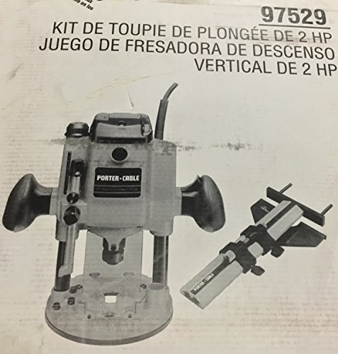 PORTER-CABLE 97529 2 HP Heavy-Duty, Electronic Variable Speed Plunge Router Kit