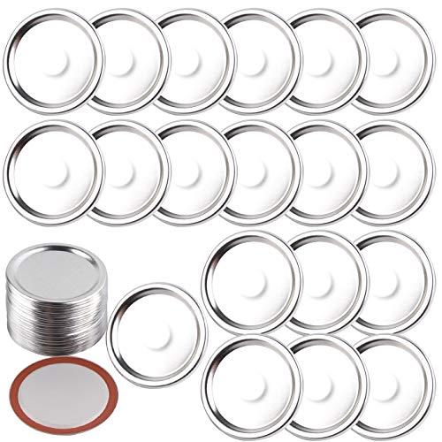 WXJ13 40 Pack Mason Jar Lids Mason Jar Split-Type Lids Mason Jar Cover Mason Jar Lid with Silicone Excluding Mason Circle