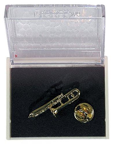 GEWA 980035 Unisex-Brosche Anstecknadel Posaune, goldfarbig
