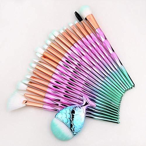 MLYJC Pinceaux Maquillage kit Eye Shadow Eyeliner Cils Maquillage Brosses Set kits Professionnel Sourcils Cosmétique Brosse Pour Les Yeux, Violet vert