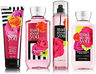 Bath & Body Works MAD ABOUT YOU Deluxe Gift Set Lotion ~ Cream ~ Fragrance Mist ~ Shower Gel Lot of 4