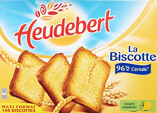 Heudebert Biscotte Nature 108 Tranches 875 g