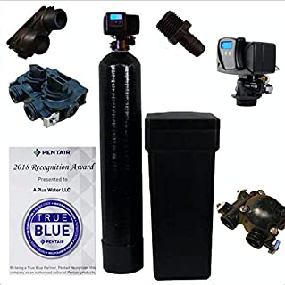 Iron Pro 48K Combination Water Softener & Iron Filter with Fleck 5600SXT Digital Metered Valve - Treat Whole House up to (1