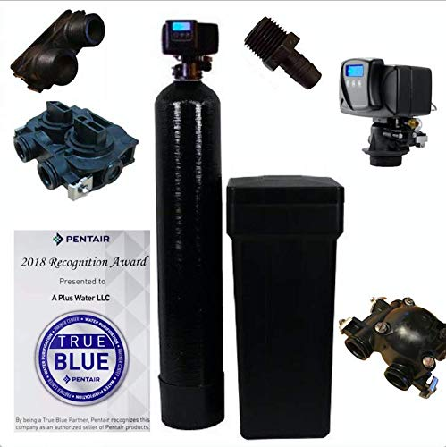 DuraWater 56-SXT-32K-M Fleck 5600 SXT Whole House Water Softener 32,000 Grains Ships Loaded With Resin In Tank, black