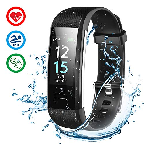 MROTY Orologio Fitness Tracker Smartwatch - Smart Watch Cardiofrequenzimetro, Impermeabile IP68 Conta Passi Activity Tracker per Android ed IOS Samsung Huawei Xiaomi LG Iphone