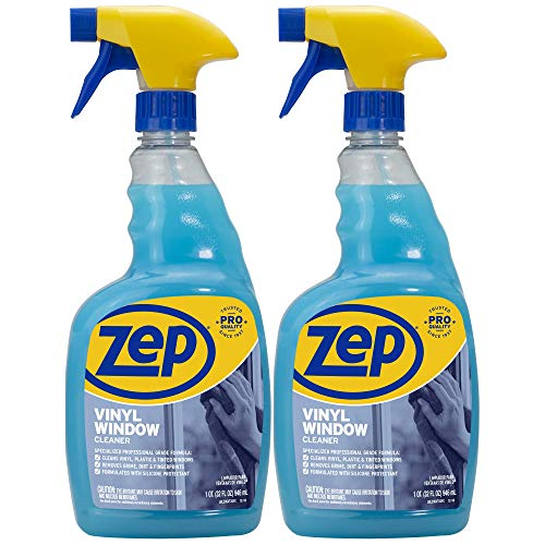 Zep Plexiglass Cleaner 32 ounce (Pack of 2) - Great for Plexiglass shields and Tinted windows ZUGVT32