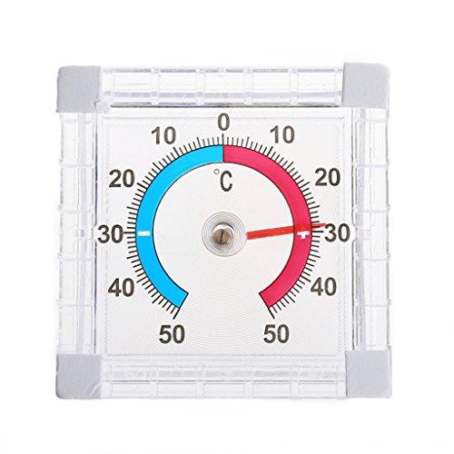 FXCO Digitales Thermo-Hygrometer, Indoor Outdoor Hygrometer Thermometer Raumklimakontrolle Temperatur-Thermometer Gewächshaus-Gartenhaus