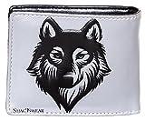 Shagwear - Monederos para Mujeres jóvenes diseños: (Lobo Temperamental Gris/spirot Wolf Gray)